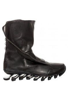 Rick Owens x Adidas Spring Blade High Boot Black   Shop Online at Hervia.com