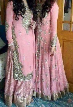 the one on the right would be amazing for my bridesmaids Pakistani Couture, Pakistani Bridal Dresses, Pakistani Outfits, Indian Dresses, Indian Outfits, Pakistani Clothing, Indian Bridal Fashion, Bridal Outfits, Indian Designer Wear