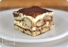 """Sinfully Sinless Tiramisu (recipe) ~ """"laden with hot cocoa and rum extract instead of espresso and rum"""""""