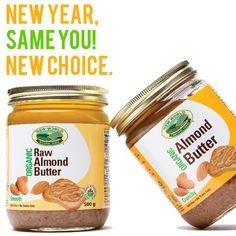 New Year New Choice Raw Almond Butter, Food Inc, Salsa, Healthy, Salsa Music, Health