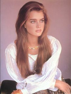 Brooke Shields. So naturally beautiful.