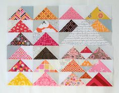 Free tutorial - sewing flying geese: Triangles and Geese and Swans by Hyacinth Quilt Designs (Cindy Lammon)