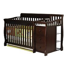 Dream On Me Brody 4-in-1  Convertible Crib with Changer - Espresso. Also comes in white.  $379.99