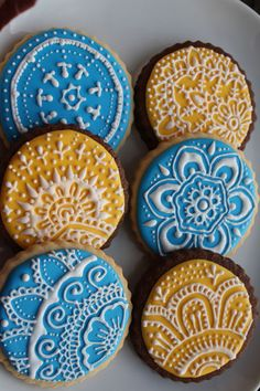 Henna Cookies - for Niki by Three Ghosts, via Flickr