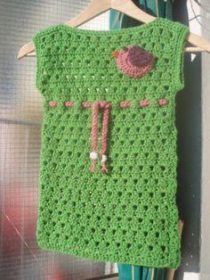 La ventana azul: 65.- Vestido a crochet