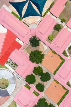 Pink Roof Abstract by Mark Merton