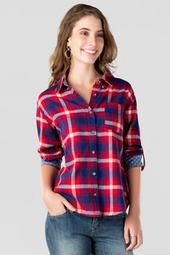 Desoto Plaid Buttoned Top.  #PlaidLove #francesca's® #DreamFallWardrobe!