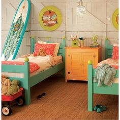 Colorful gender neutral kids bedroom