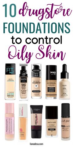 Finding the right foundation for your skin type can be tough, right? I know the struggle! If you have oily skin, this post is for you! I'm sharing the best drugstore matte foundations for oily skin, plus tips on how to keep foundation matte all day! Best Drugstore Matte Foundation, Beste Foundation, Best Foundation For Oily Skin, Maybelline Foundation, Drugstore Makeup Dupes, Best Primer For Oily Skin, Beauty Dupes, Drugstore Essentials, Best Drugstore Concealer