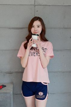 CW31480 Korean style short sleeve pajamas summer sets for women Sleepover  Outfit c8ba151bd