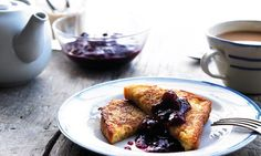 Brioche Eggy Bread with Apple & Berry Compote