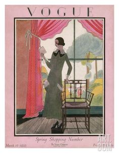 Vogue Cover - March 1923 Regular Giclee Print by Harriet Meserole at Art.com