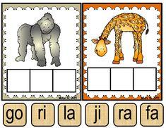 Los animales del zoológico