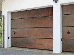 Sectional Corten™ garage door CORTEN Le Perle Collection by Breda Sistemi Industriali
