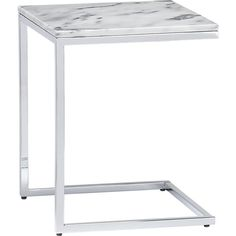 smart marble top c table    CB2 If you want to work on the sleeper