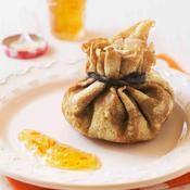 Aumônièreaux pommes, chocolat et marmelade d'oranges amères - une recette Fête - Cuisine