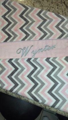 Minki Chevron baby quilt for Wynter