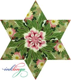 Inklingo Kaleidoscope Star - Whatever you call it, we love them!  Fussy Cut, One-Block Wonder, Stack n Whack. or Kaleidoscope.