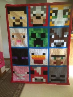 Hey, I found this really awesome Etsy listing at https://www.etsy.com/listing/237844689/customized-minecraft-quiltblanket
