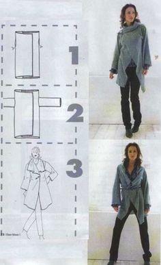 Как сшить кардиган из прямоугольника - Стильный и модный магазин одежды