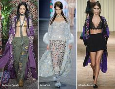 Spring/ Summer 2017 Fashion Trends: Robes-Kimono! Love the left and right outfits.