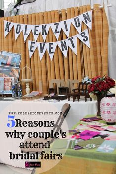 Why do upcoming bride and groom needs to attend wedding bridal fairs?Here's 5 reasons how attending wedding bridal fairs can help couples.This can also be a good bonding time while planning for their wedding.If couple already have wedding planner.Better to tag their wedding planner along. #weddingplanning #bridalfairs #weddings #weddingplanner