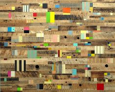 Abstract painting with reclaimed wood by Duncan Johnson | Upcyclista