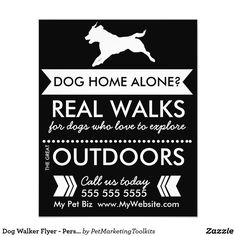 Dog walking flyer leaflets templates mind my business pinterest dog walker flyer personalizable maxwellsz