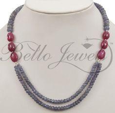 Handmade Tanzanite Beaded Necklace