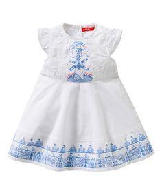 Loving this White Dideke Dress - Infant, Toddler & Girls on #zulily! #zulilyfinds