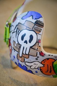 Grafitti Style Band DOC band/cranial band/helmet  https://www.facebook.com/Cranial-BandsMurals-by-Leigh-Gibson-153150921414230/