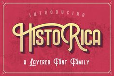 Historica Typeface wubstudio Other Fonts Business Brochure, Business Card Logo, Business Style, Circus Font, Westerns, Circus Show, Texture Web, Design Typography, Vintage Fonts