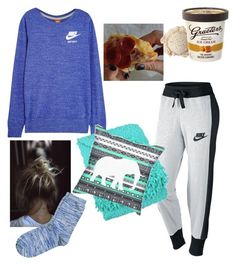 """""""lazy"""" by livvy-loves-pizza ❤ liked on Polyvore featuring NIKE and Blissliving Home"""