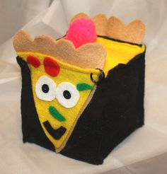Punk Rock Felt Pizza, Funny Plush Food by SomethingbyNikki on Etsy
