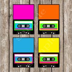 Totally Eighties Editable Cassette Food by LittleMsShutterbug