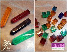 beads and crystals made with resin