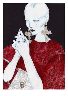Dolce & Gabbana F/W 2013 by Artaksiniya Swide.Archives: Dolce & Gabbana F/W 2013 Illustration Project (Part4)