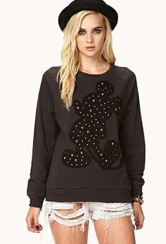Studded Mickey Mouse© Sweatshirt   FOREVER21 - 2079618444