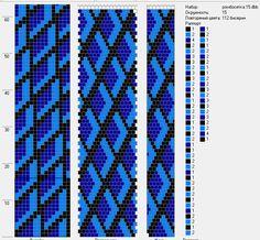 Lbeads Tutorial: Design Tubular Bead Crochet Jewelry Patterns by Lablun's Stitch… Crochet Bracelet Pattern, Crochet Jewelry Patterns, Crochet Beaded Bracelets, Seed Bead Patterns, Bead Crochet Rope, Beading Patterns, Beaded Crochet, Tapestry Crochet, Bead Jewellery