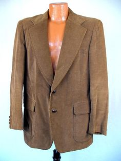 Vintage 60s Jacket Men's 70s Brown Corduroy by swingkatsvintage, $65.00