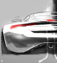 Aston Martin concept drawing Dmitry Pogorelov on Behance