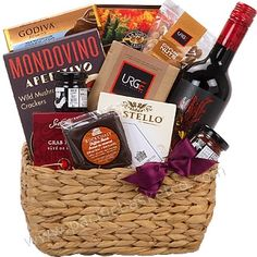 WINE & CHEESE GIFT BASKET Cheese Gift Baskets, Cheese Gifts, Wine Gift Baskets, Gourmet Gift Baskets, Wine Cheese, Fresh Fruit, Gourmet Recipes, Vancouver, Food