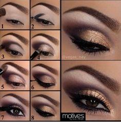 13 Charming Golden Eye Make-up sieht aus wie 2017 # 13 # Charming # … - Augen Make Up
