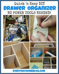 DIY Drawer Organizer | The Everyday Home Blog | www.everydayhomeblog.com