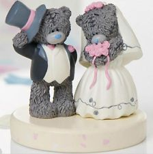 Bears Wedding Cake Topper Personalized Bear Bride And Groom In Love Custom Handmade Keepsake Out Th