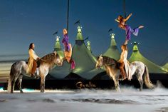 Cavalia Singapore Horse Show @ Bayfront Avenue, Marina Bay - Horses and Performers in front of the White Theatre Tent. Largest touring tent in the world! #sgmemory #family #cavalia #cavaliasg #shows #horses #theatre #singapore #thingstodo #events