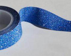 Dark Blue GLITTER Washi Tape 15mm single roll -project life-