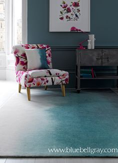 bluebellgray's new 'Teal paintbox' rug  www.bluebellgray.com <3