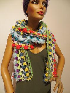 handmade, crocheted cloth, scarf, shawl, unicat Crochet Scarves, Crochet Shawl, Shawls, Colours, Colorful, Summer, Handmade, Clothes, Fashion
