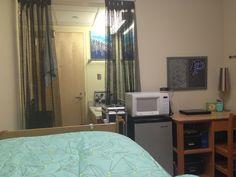 My dorm room at UNCSA College Dorms, Dorm Ideas, Dorm Room, Curtains, Home Decor, Dormitory, Homemade Home Decor, Dorm Rooms, College Dorm Rooms